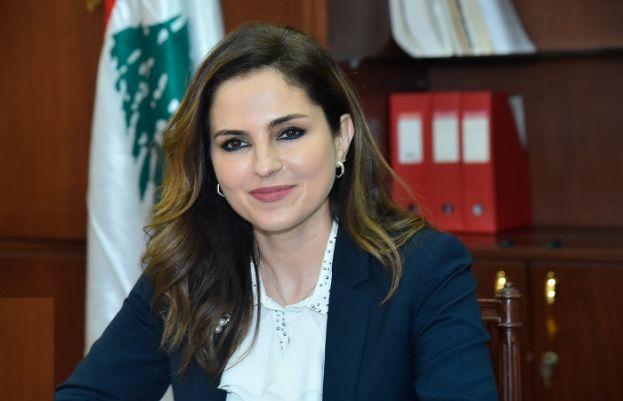Lebanon's information minister Manal Abdel Samad